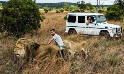 Mercedes-Benz pits man against beast