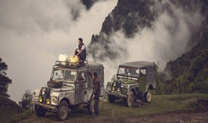 Classic Land Rovers' all terrain adventure through the Himalayas