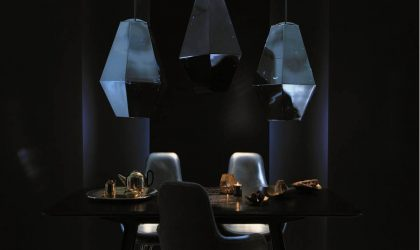 Tom Dixon's lighting to dine and drink by