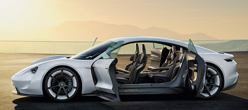 The foreseeable future of cars Porsche Taycan