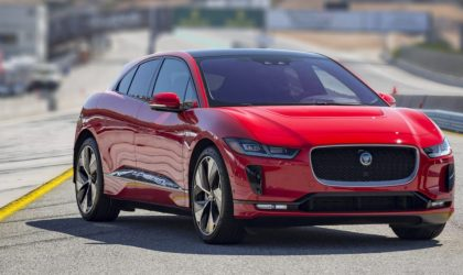 Jaguar I-Pace receives the Car of the Year award at Geneva Motor Show