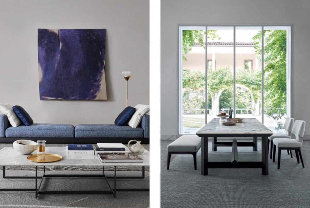 Intimate, elegant living with Flexform at IL Lusso