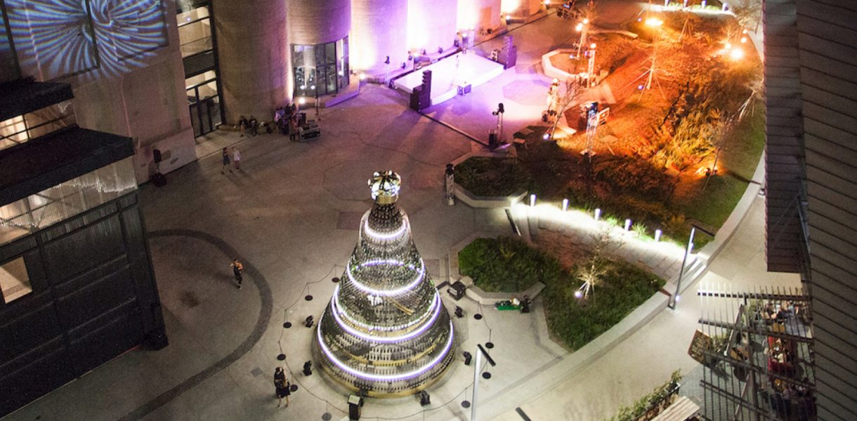 A champagne Christmas tree awaits in the Mother City
