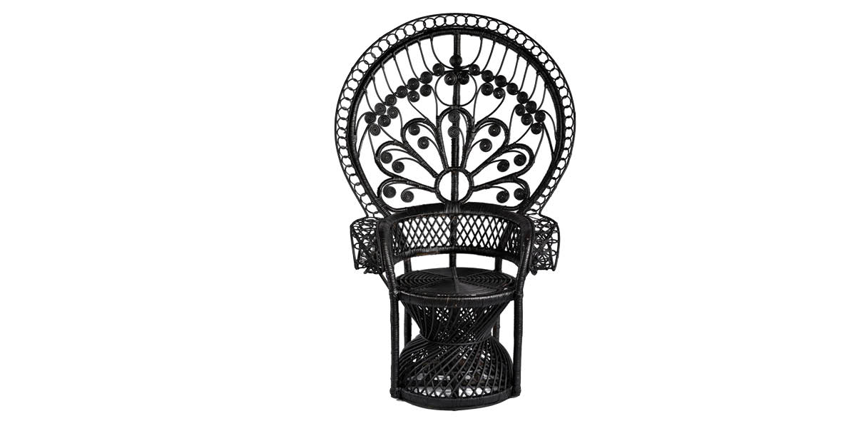 8°South peacock chair