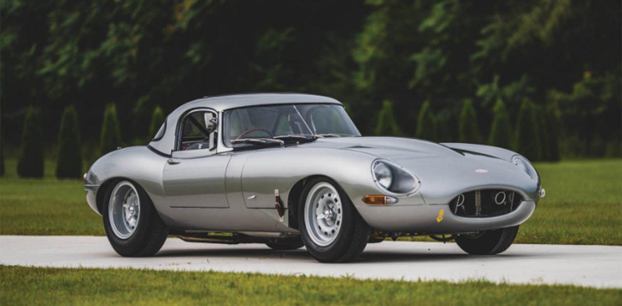 A rare 1963 Jaguar E-Type is on auction